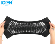 LOEN 1 PC Universal Car Seat Back Storage Mesh Net Bag Strong Magic Tape Multifunction Luggage Holder Car Trunk Organizer(China)