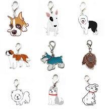 New Pet ID Tag Enamel Disc Disk Metal Collar Necklace Dalmatian Maltese Bulldog Chow Boxer German Shepherd BFOF @01(China)