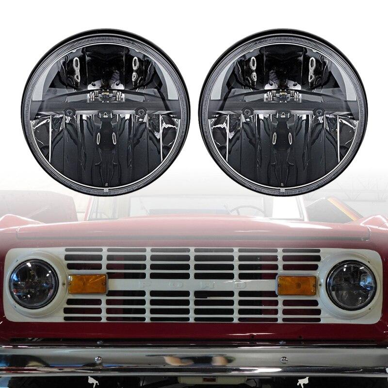Black LED Headlight for 1966-78 Ford Bronco