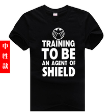 Plus size short-sleeve T-shirt 2016 man fashion cotton new male sitcoms to be an agent of shield man