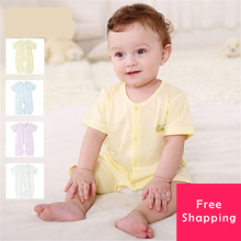 Baby Romper Short Sleeve Cotton Jumpsuit Clothes Online Open File Single Breasted Newborn Baby Clothes Summer Jumpsuit 507009