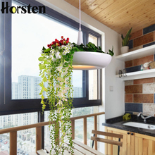 LED Hanging Gardens of Babylon Plants Lamp Pots Potted Nordic Tom Creative White Chandelier Lighting Without Plants and Flowers(China)