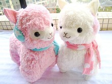 Amuse 45cm Alpaca Peluches With Earmuff Japan Alpacasso Jumbo Plush Animal Stuffed Toy For Girls Kids Lover Christmas Gift(China)