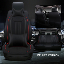 Luxury leather car seat cover universal seat Covers for Daewoo Matiz Nexia Tosca Kalos Evanda cars cushion car accessories style