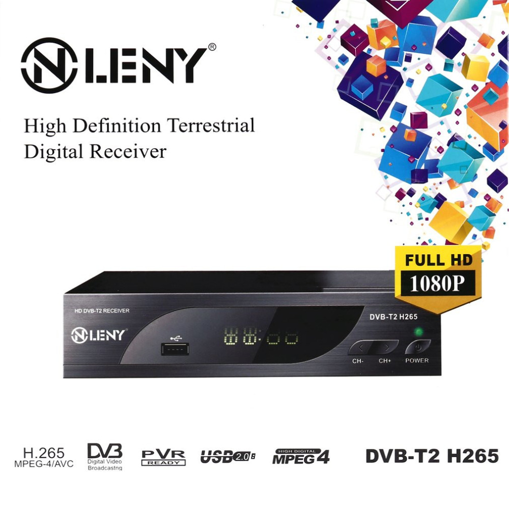 ONLENY DVB-T2 H.265 Full HD 1080P High Definition Digital Terrestrial Receiver USB2.0 Port with PVR Function and External HDD<br>