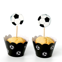 24Pcs/set Cutes port football/soccer player Toppers Picks Cupcake Toppers Picks Kid Birthday Party Decorations Party Favors