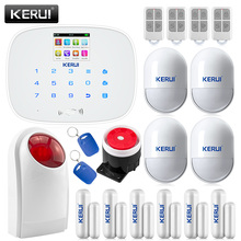 Kerui G19 Wireless&Wired GSM SMS  Home Security Burglar Alarm System English & Russian Voice