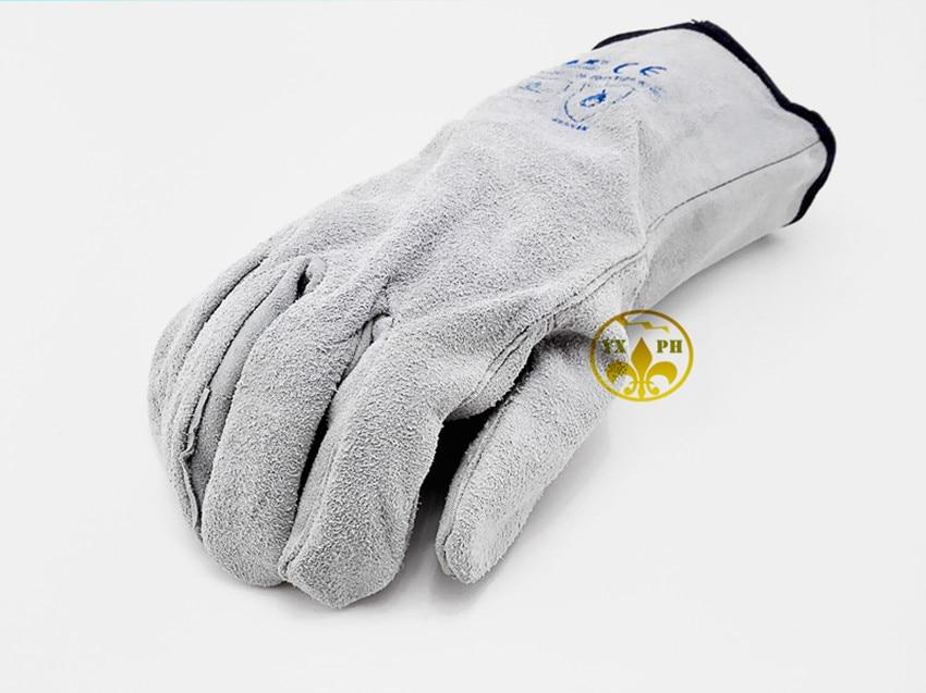2017 new welding glovesAP21 Leather Work Gloves White Leather exscinding stab mechanic gloves EC certification<br><br>Aliexpress