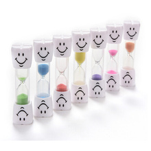 1 PC Hot Sale Toothbrush Timer Minute Smiley Sand Timer for Brushing Children's Teeth Hourglass Sand Timer