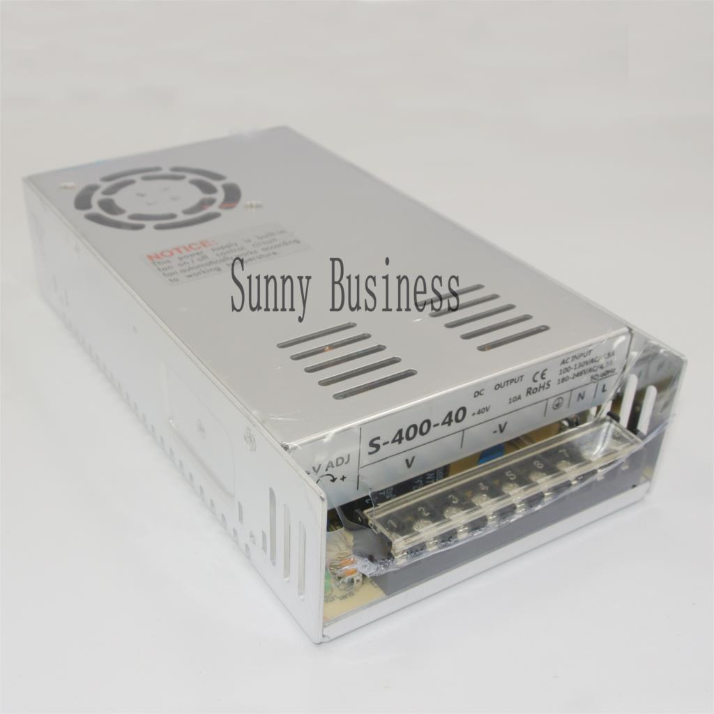 Best quality 40V 10A 400W Switching Power Supply Driver for CCTV camera LED Strip AC 100-240V Input to DC 40V<br>