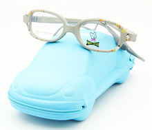 Free Shipping PC Material  Glasses Frame Kids Designer High Fashion Optical Frame Rubber Hinge Screwless with Case