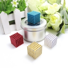 216pcs 4mm neodymium magnetic balls spheres beads magic cube - with metal box.