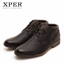41~46 Men Boots Spring/Autumn Work Boots Motorcycle Retro Men Winter Boots XPER #XHY11607BR(China)