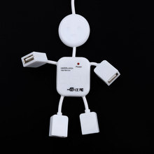Hot 4 Ports usb hub Robot Splitter Mini USB Hub 2.0 Adapter For Laptop PC Computer For Game Mouse Car Reader Mp3