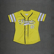 3 Styles Real USA Size Buttons down 3D Sublimation Print Custom made women baseball jersey for ladies