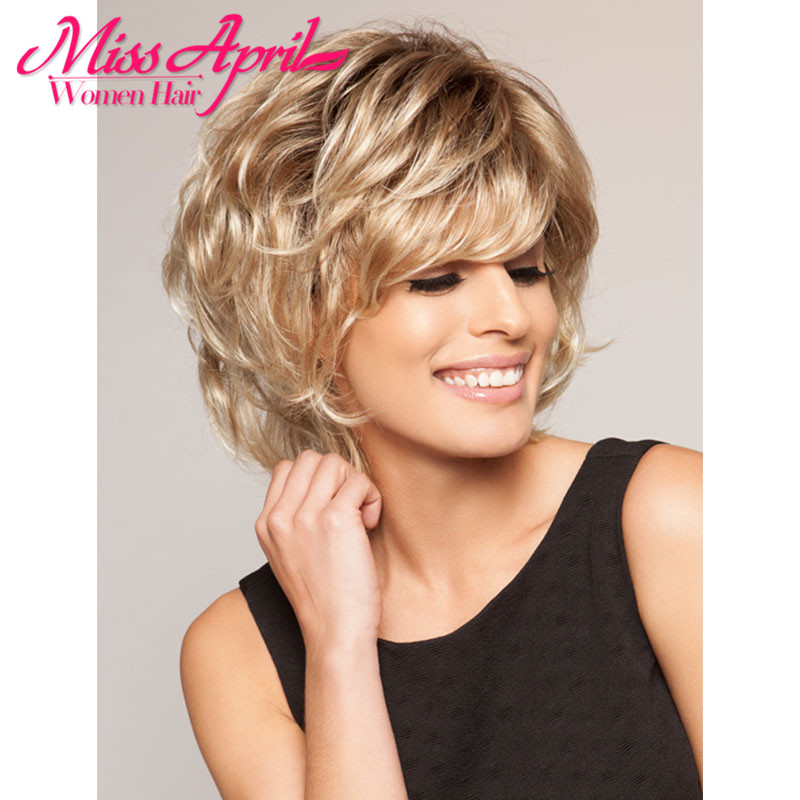 New Synthetic Wigs With Bangs Short Wigs For Black Women Goldway Perucas Cosplay Perruque Cheveux Synthetic Wig Cosplay<br><br>Aliexpress