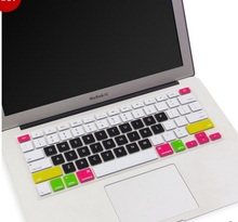 "Silicone Colorful Keyboard Stickers for Macbook Keyboard Cover US&EU Version 13""15"" Protector Skin Laptop klavye membrane"