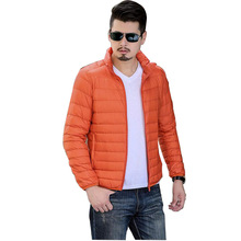 Casual Ultralight Down Coat Men Winter Jacket Men's stand collar Down Jackets short section Down Coat cotton jacket 162505(China)