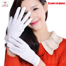 95% cotton Anti-static gloves high quality etiquette Pure white Working gloves Jewelry Anti-fingerprints Operating gloves