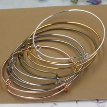 Buy 30pcs/Lot Alloy Adjusted Antique Bronze/Black/Gold/Silver Color wire Bracelet Vintage Bangle beading charms DIY Jewelry for $7.64 in AliExpress store