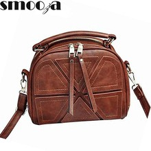SMOOZA brand women crossbody bags for women shoulder messenger bags crocodile pattern artificial leather handbag with tassel(China)