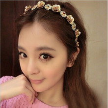 2016 Super Shining Crystal Floral Decoration Permanent Diamond Hair Clasp Women Designer Headbands Female Head Band Hair Hoop(China)