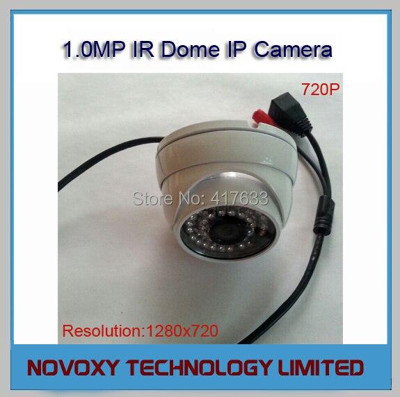 Free Shipping 720P 1.0 Megapixel 1MP ONVIF 2.0 HD IP Waterproof Vandalproof IR Dome Camera Eyeball Night Vision 24x LED IR 20m<br><br>Aliexpress