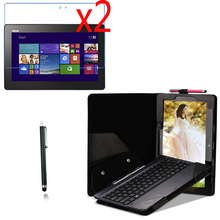4in1 Luxury Leather Case With Detachable Keyboard Station Cover +2x Films +1x Stylus For Asus Transformer Book T100 T100TA 10.1""