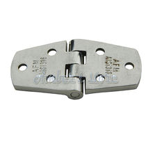 2pcs 316 Stainless Steel Marine Boat Hardware 3-Hole Cabin Flush Door Strap Butt Hinge