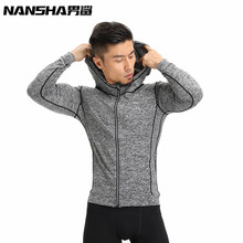 NANSHA Brand New Arrival Quick Dry Compression Shirts Long Sleeves T-shirts Fitness Clothing Bodybuilding Crossfit Shirts(China)