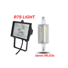 78mm 5W AC85-265V R7S Dimmable LED lamp J78 J118 J135 J189 5W 12W 15W Bulb 135mm 189mm For Lawn Floodlight Spot light(China)