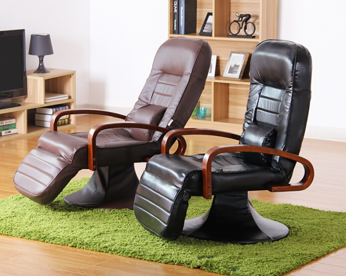 Functional Leather Computer Chair 360 Degree Swivel Black/ Brown Office  Desk Modern Office Computer Chair Ergonomics