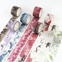 30mm x7m Decorative adhesive tapes Paper washi tape Masking Tape Scrapbooking Decorations Japanese Washi Paper Tape Stickers