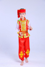 Children Miao Performance Clothes Hmong Clothing Boys Silk Stage Performances Costumes Dai Dance Costumes(China)