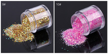 WRE #12colors (10g Jar)Hot Sale New Colors Acrylic Gel Nail Art Tips Design Nail Art Spangles Decorative Glitter Flake
