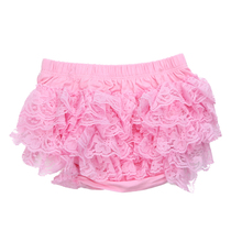 Newborn Baby Girls Lace Ruffle Pants Shorts Nappy Diaper Cover Bloomers Panties(China)