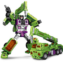 6 IN 1 NBK KO Devastator Transformation Action Figure Toys GT Engineering Bulldozer Excavator Crane Combiner Model Adult Toy Boy(China)