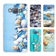 Blue Wood Seashells Sea Star Clear Transparent Cell Phone Case Cover for Samsung Galaxy A3 A5 A7 A8 A9 2016 2017