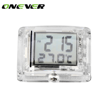 ONEVER Motorcycle Luminous Vehincal Clock Motorbike ATV Electric Car Bicycle Watch for Honda for Yamaha with Temperature(China)