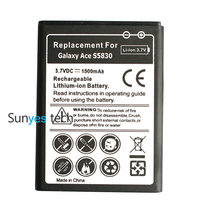 1500mAh EB494358VU Replacement Battery For Samsung Galaxy Ace S5830 S5830i S5830T I569 I579 Gio S5660 S5670 Pro B7510 SCA-1523