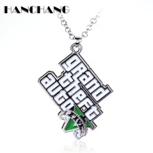 PS4 Xbox PC Rockstar Game GTA V Grand Theft Auto 5 Necklace For Men Boys Fans Gift Jewelry Neck Lace accessories
