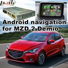 Android 4.4 5.1 GPS navigation box for new Mazda 2 demio with cast screen youtube google play video interface(China)