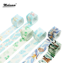 Creative Cute Square Plants Animals Decorative Adhesive Tape Masking Washi Tape Diy Scrapbooking School Supplies Stationery(China)