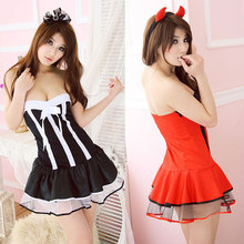 Lovely Girl Cosplay Costumes Women Sexy Halloween Christmas new year Adult Animal Costume Fancy Dress Clubwear Party Wear(China)