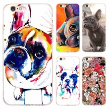 Coque Funda French Bulldog Clear Soft TPU Silicone Cover for iPhone X 8 7 Plus 5S 5 SE 6 6S Plus 5C 4S 4 for iPod Touch 6 5 Case(China)