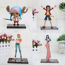 6-16cm One Piece Monkey D Luffy 2 years later Nami Chopper Nico PVC Action Figure Collection Model Toy Gift