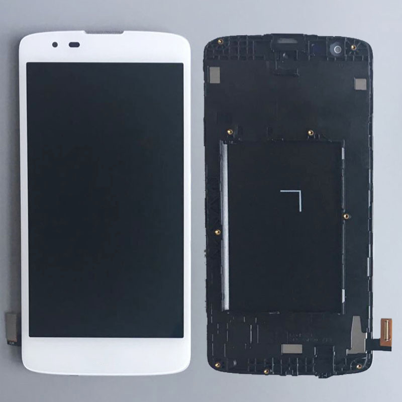 White Touch Display LCD Digitizer Assembly+Frame for LG K8 K350N K350E K350 Replacement<br>