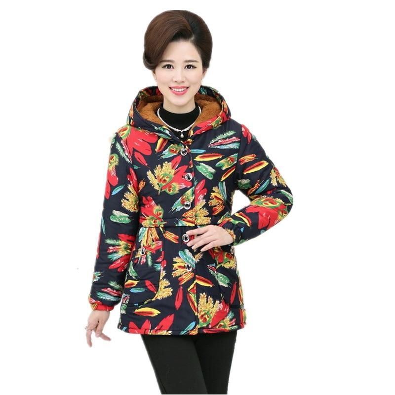 2017 Winter New Design Plus Size XL~5XL Print Thick Warm Fashion Slim Lambs Wool Women Parkas 6ColorsОдежда и ак�е��уары<br><br><br>Aliexpress