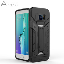 Airress Armor Rugged Military Grade Phone Case Kickstand Card Pocket Cover for Samsung Galaxy S7 S7 Edge