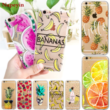 Hot Fruit Pineapple Banana Case Cover For Apple iPhone 7 6 6S Plus 5 5S SE Soft Silicon Transparent Coque for iphone 7 Cases